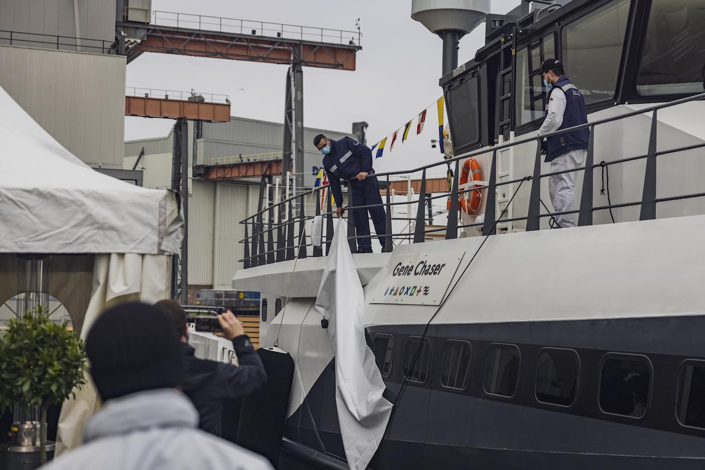 Damen Yachting - Naming Ceremony Gene Chaser yacht support