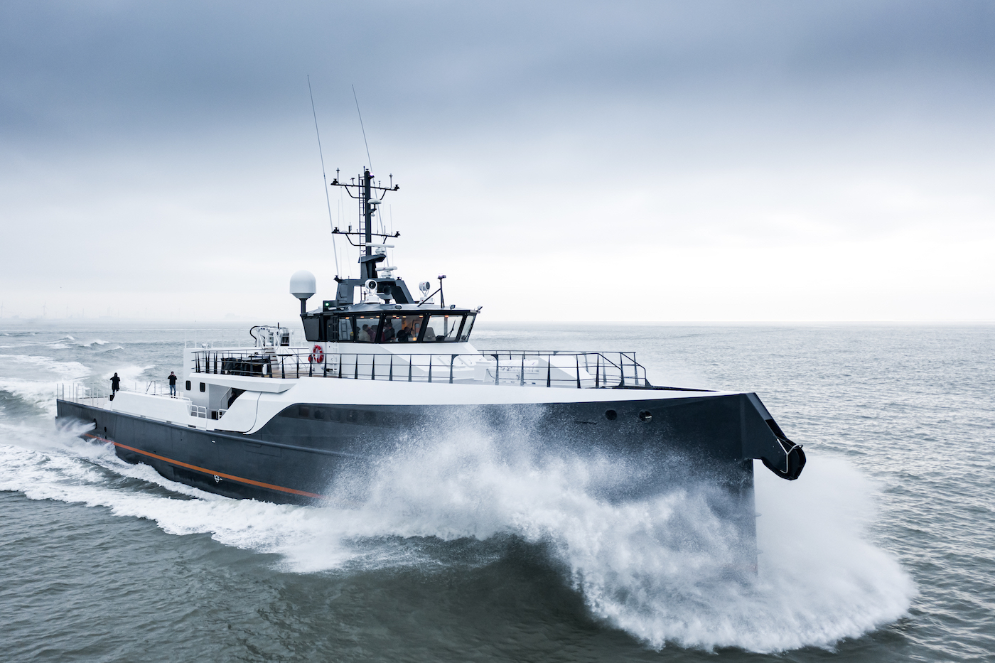 GENE CHASER Yacht Support on sea trials at Damen Yachting