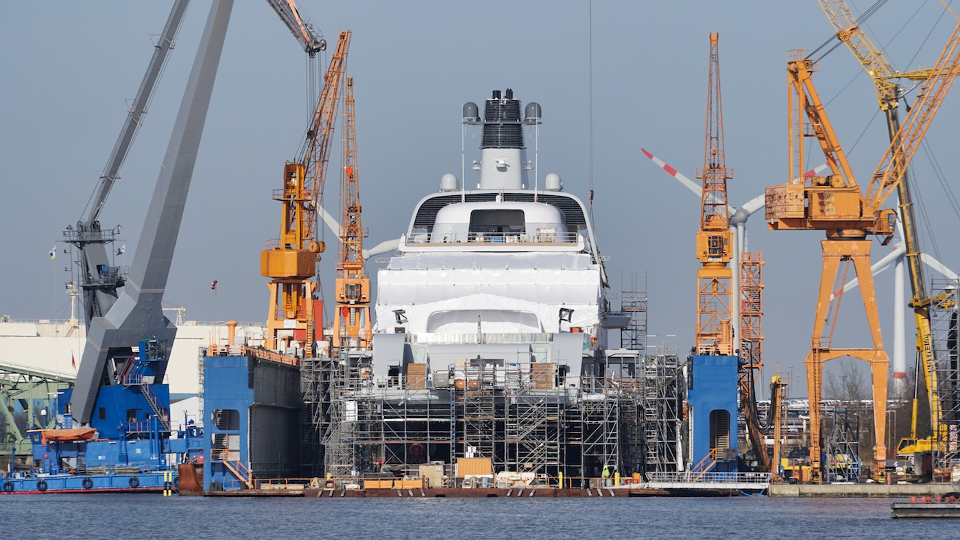 Mega yacht SOLARIS unveiled and ready for launch © DrDuu