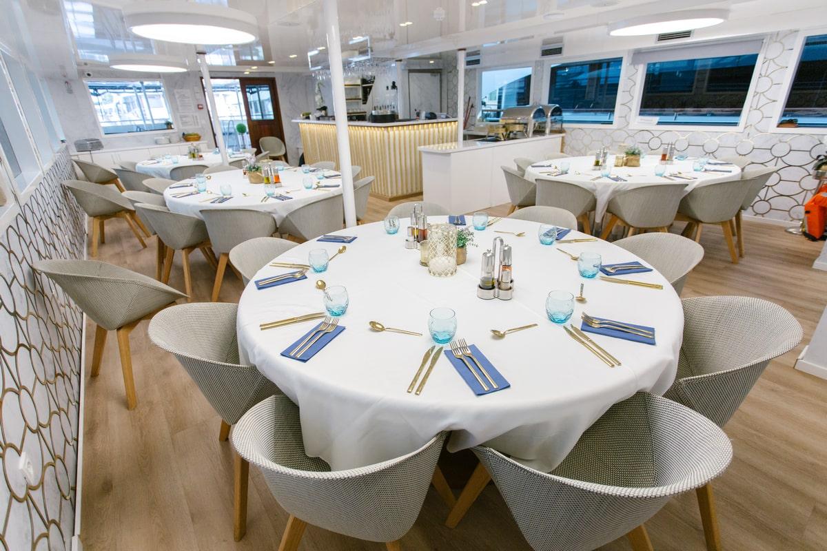 Spacious, modern and elegant dining saloon