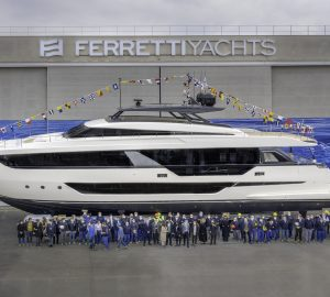 30m Ferretti Yachts 1000 motor yacht EPIC launched - The largest by the Italian Shipyard