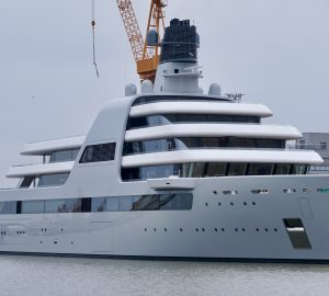 New Photos of 140m superyacht SOLARIS in build by Lloyds Weft