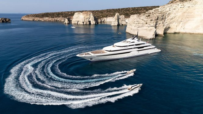 Mega yacht O'PARI available in Greece - Photo © Jeff Brown Photography