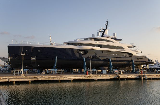 Benetti FB274 motor yacht Zazou launch ceremony
