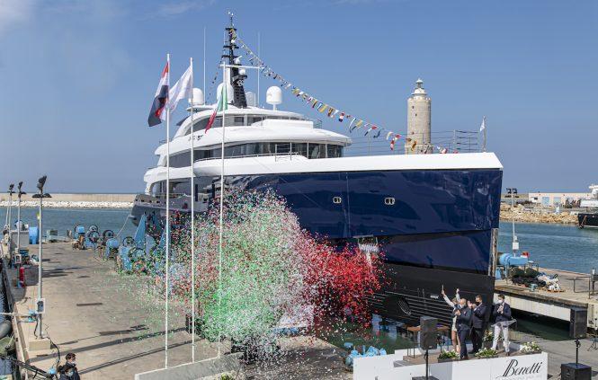 Benetti FB274 superyacht Zazou launch ceremony