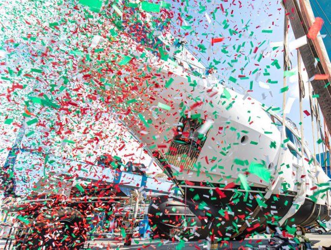 Benetti motor yacht BD111 Delfino 95 launch ceremony