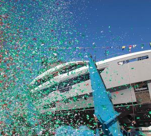 Luxury yacht Joy, the second Benetti Oasis 40M, launched successfully