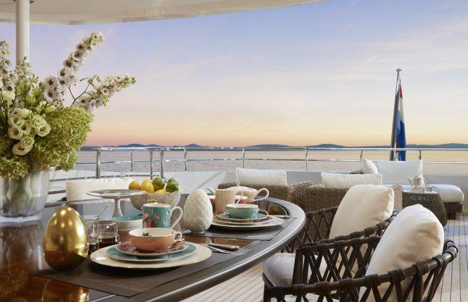 Exterior deck areas © Heesen Yachts