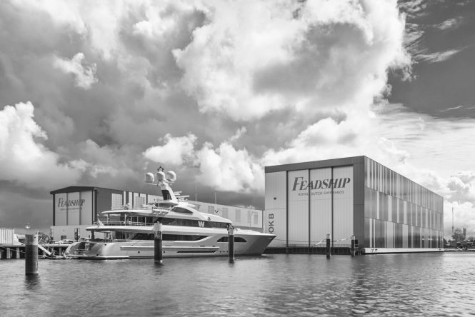 Feadship Yard - Photo of motor yacht Project 709 to be released soon