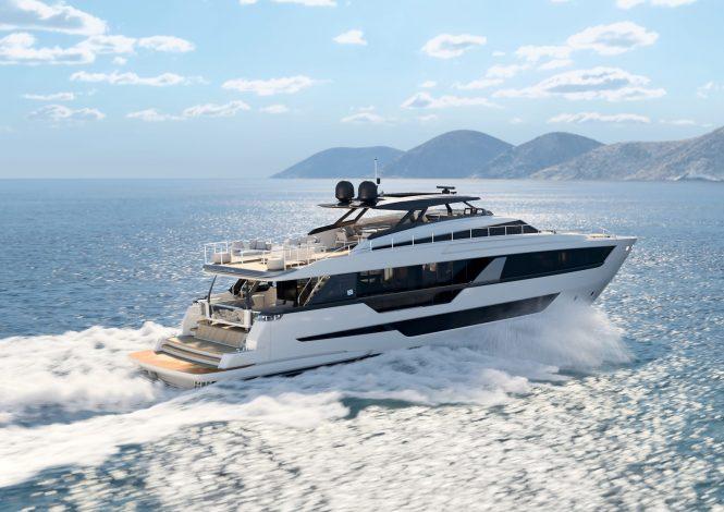 Motor yacht EPIC - rendering © Ferretti