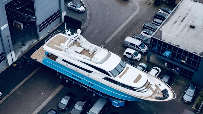 Motor yacht HELGA at launch