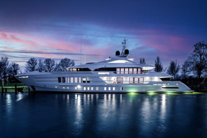Motor yacht MOSKITO in the evening - Photo © Tom Van Oossanen