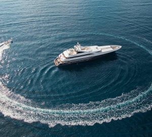 55m motor yacht TURQUOISE offering reduced charter rates in West and East Med this Summer