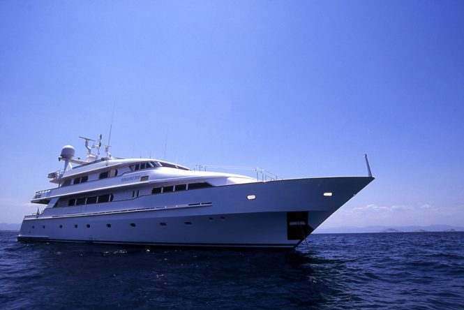 Motor yacht XANA pre-refit , new photos to be released soon.