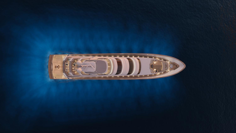 Royal Huisman luxury sportfisher 406 - Artist Impression by Vripack