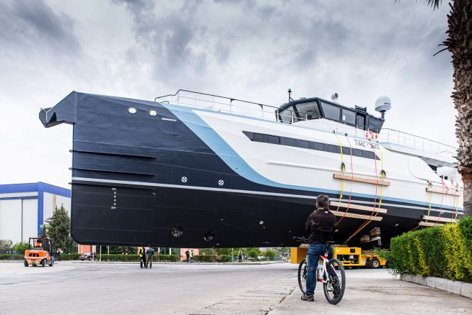 TIME OFF Yacht Support built by Damen Yachting launched