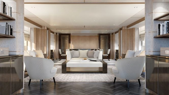 view of the saloon - rendering