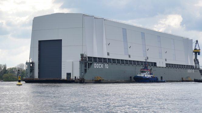 Dock 10 with Luxury yacht Project Opera inside - Photo © DrDuu