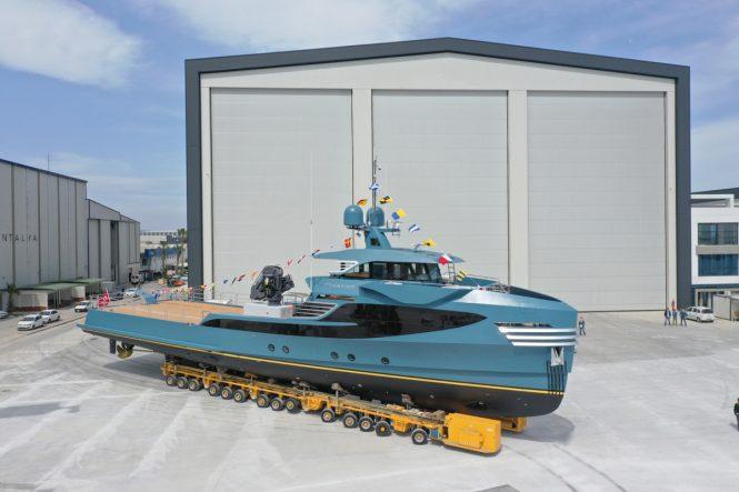 Phi Phantom yacht support vessel © Alia Yachts