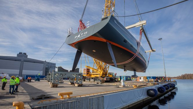 Sailing Yacht PATH ready for launch © Baltic Yachts