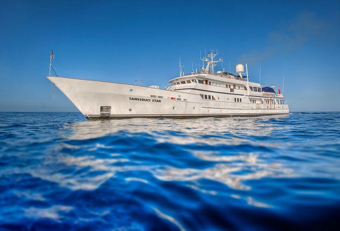 Yacht SANSSOUCI STAR - Photography by Allan Venables