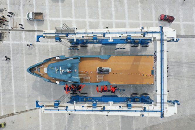aerial view of PHI PHANTOM © Alia Yachts
