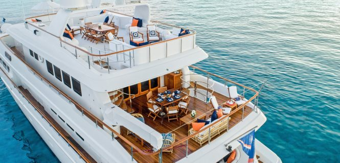 Aerial view of aft deck