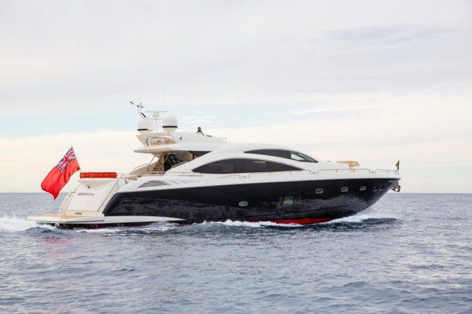 Luxury charter yacht BST SUNRISE by Sunseeker