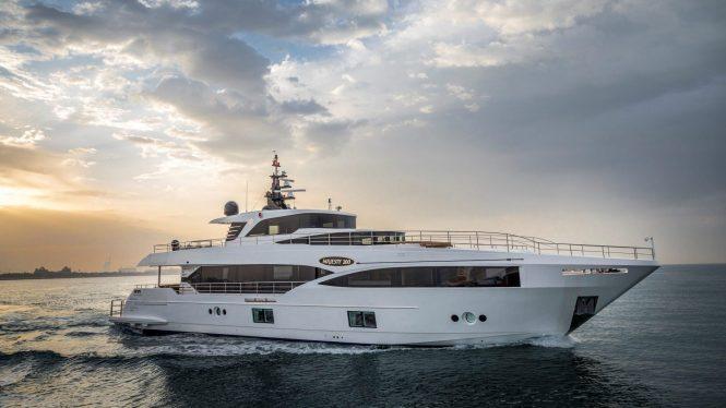 Majesty 100 yacht by Gulf Craft - sistership to motor yacht KONFETA