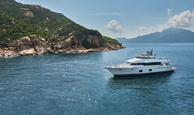 Motor yacht CLB 88 in the Mediterranean