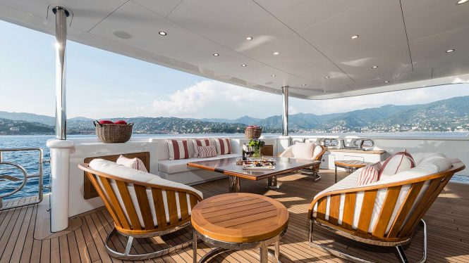 Relaxation area on the aft deck