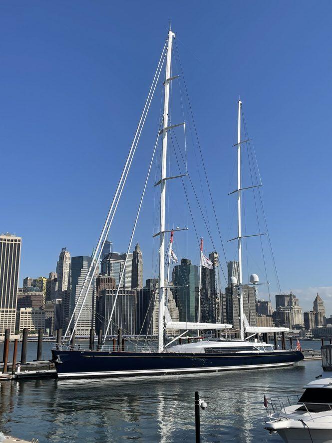 Sailing yacht MONDANGO 3 in New York ©Photo Scott Henderson