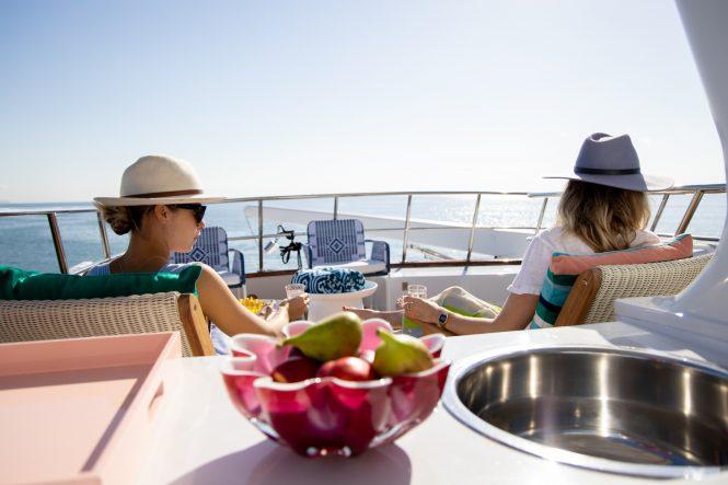 Enjoying the superyacht lifestyle © Ann Orman Photography