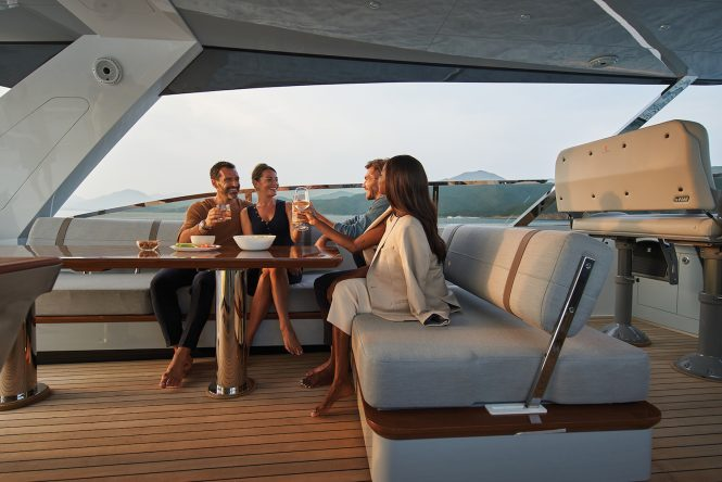 enjoying the yachting lifestyle