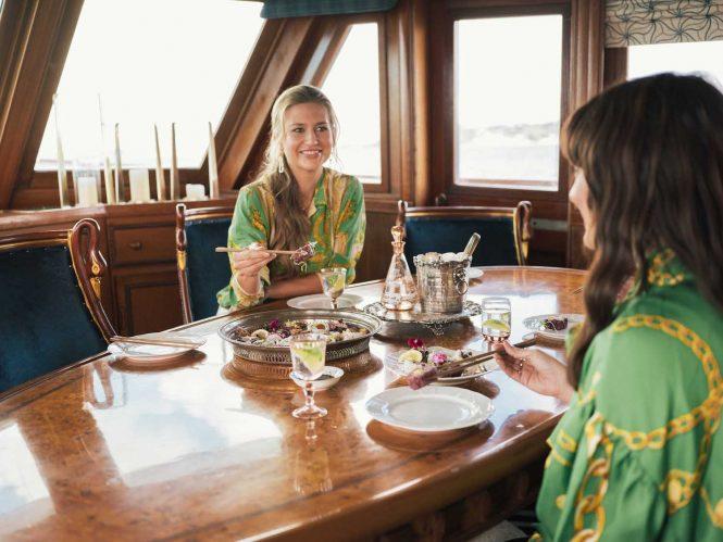 Dining saloon on board