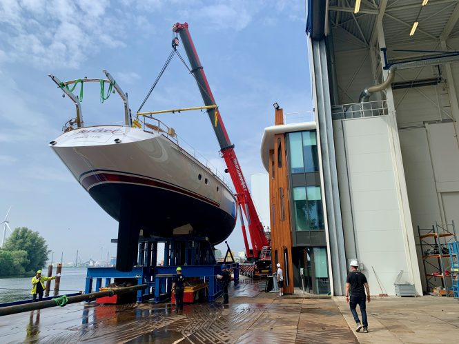 sailing yacht Juliet at launch by Huisfit - image by Huisfit