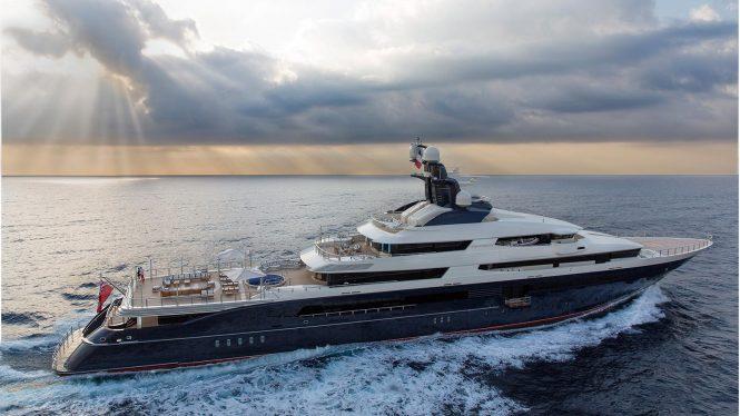 Luxury mega yacht TRANQUILITY