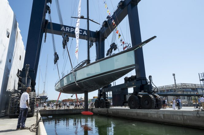 Luxury sailing yacht MOMI launched in Italy by Vismara