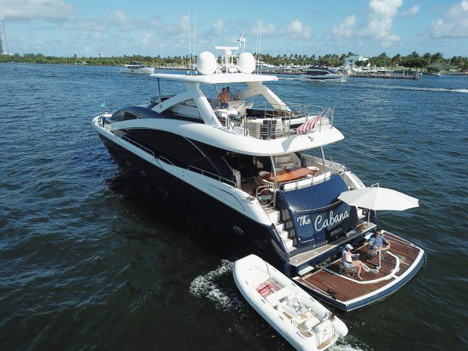 Luxury charter yacht THE CABANA