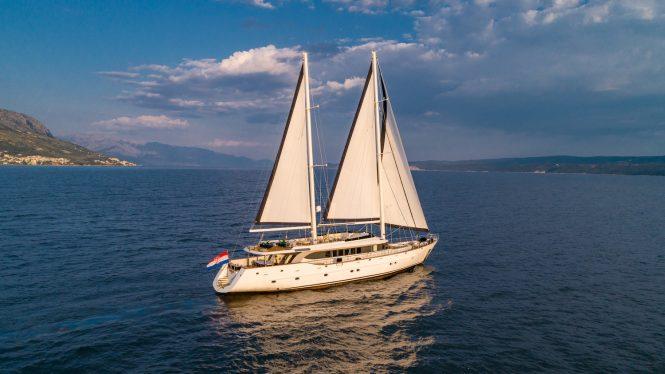 Navilux sailing in the Eastern Mediterranean
