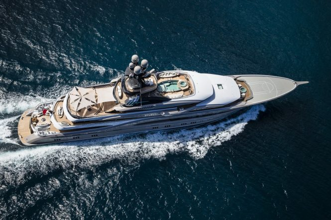 Yacht KISMET by Lurssen Yachts - From Above