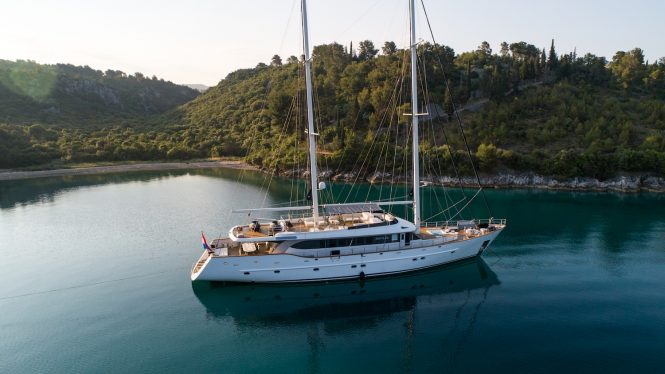 NAVILUX yacht at anchor in Croatia