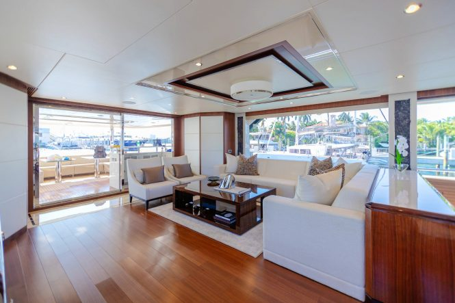 saloon and aft deck
