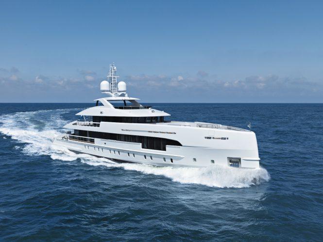 luxury yacht ELA on seatrials © Ruben Griffioen