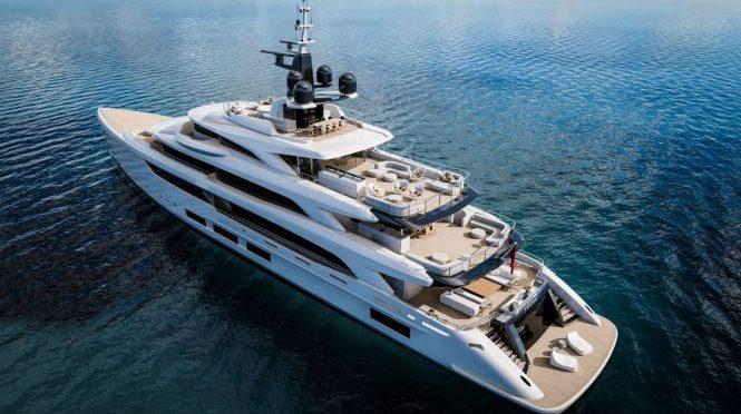 Luxury yacht TRIUMPH offering amazing aft deck spaces