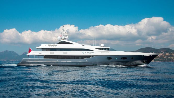 Motor yacht TURQUOISE available for charter in the West Med