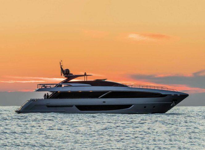 RIVA 100 CORSARO sistership to motor yacht BASILIC - Official photos to be released soon