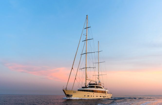 luxury motor sailer yacht ARESTEAS