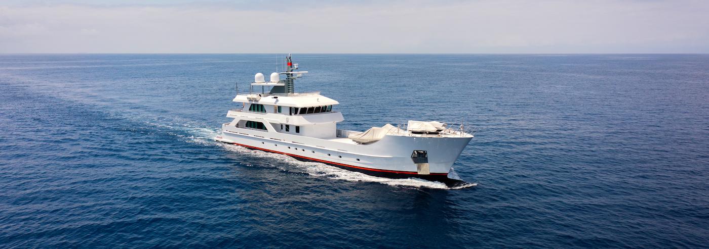 superyacht FAR FAR AWAY refitted by Lusben