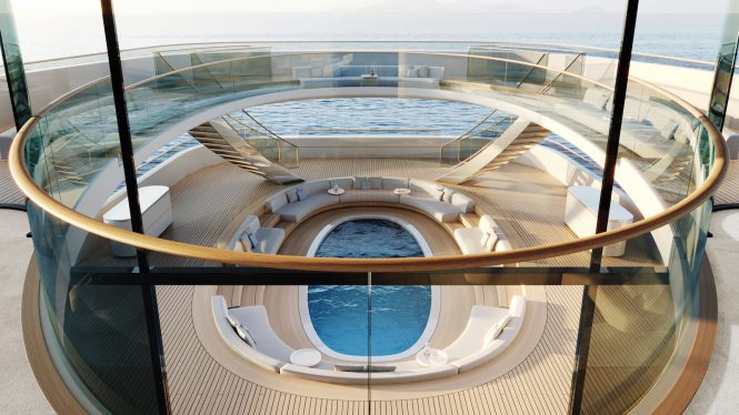 Amazing pool aboard superyacht concept Pure © Feadship